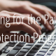 Paycheck Protection Program in white text over image of keyboard